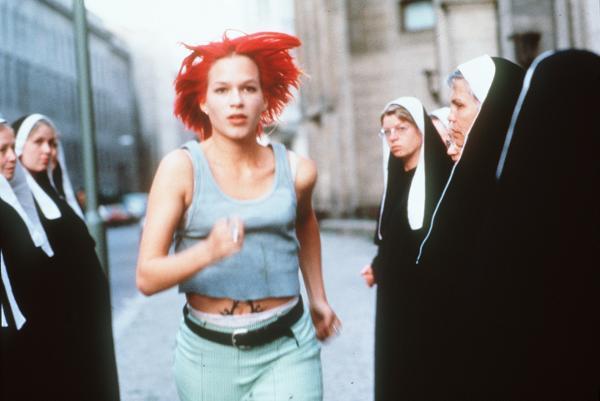 Escena de la película Corre Lola Corre