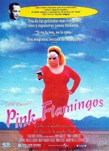 cartel de la película pink flamingos