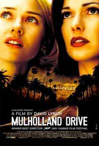 Cartel en inglés de la película Mulholland Drive de David Lynch
