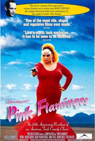 Cartel en inglés de la película Pink Flamingos
